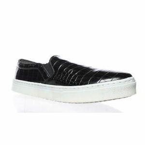 Sam Edelman Black Croco Slip On Sneaker